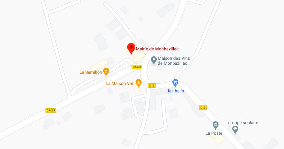 Plan Mairie Monbazillac