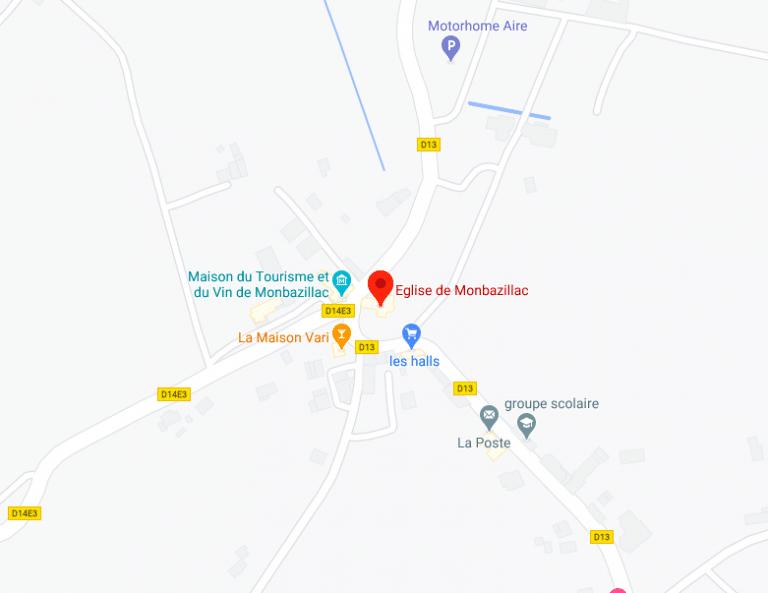 Eglise Monbazillac Plan