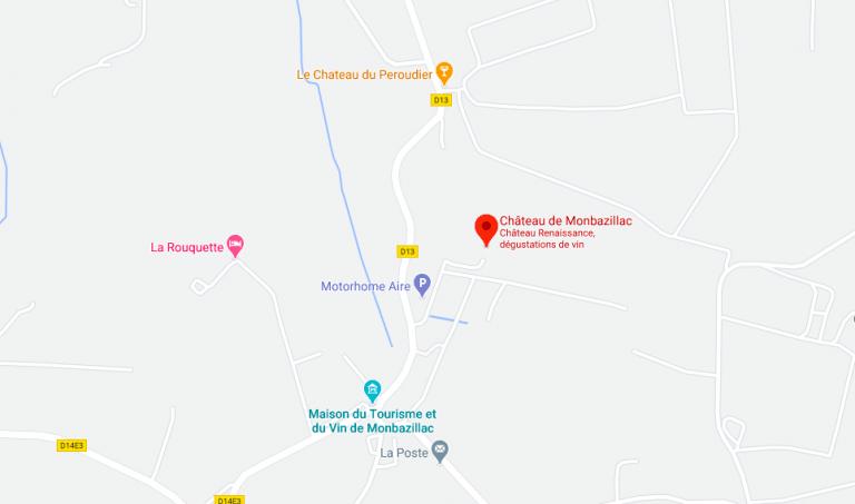Plan Chateau Monbazillac